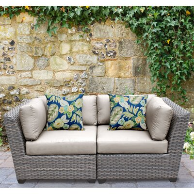 Florence 2 Piece Deep Seating Group with Cushion Fabric: Beige