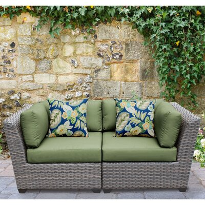 Florence 2 Piece Deep Seating Group with Cushion Fabric: Cilantro