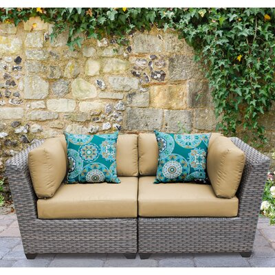 Florence 2 Piece Deep Seating Group with Cushion Fabric: Sesame