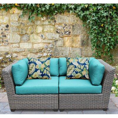 Florence 2 Piece Deep Seating Group with Cushion Fabric: Aruba