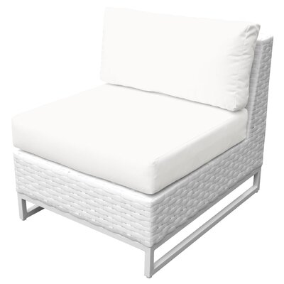 Miami 9 Piece Sectional Seating Group with Cushions Fabric: White