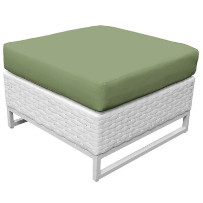 Miami Ottoman with Cushion Fabric: Cilantro