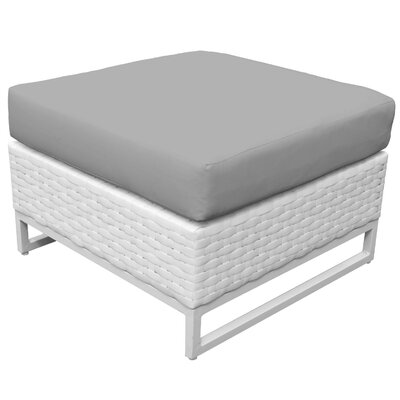 Miami Ottoman with Cushion Fabric: Gray