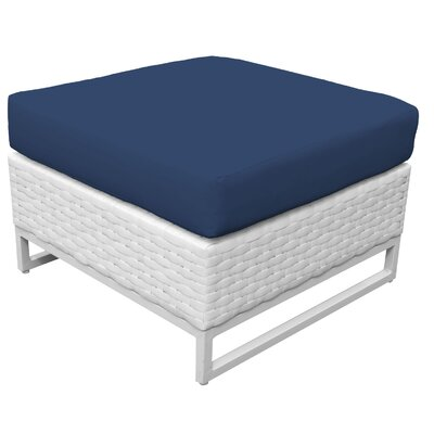 Miami Ottoman with Cushion Fabric: Navy