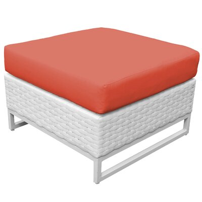 Miami Ottoman with Cushion Fabric: Tangerine