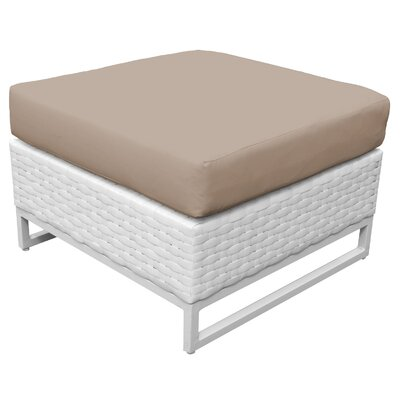 Miami Ottoman with Cushion Fabric: Wheat