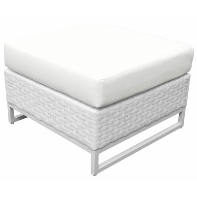 Miami Ottoman with Cushion Fabric: White