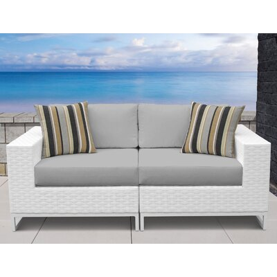 Miami 2 Piece Sofa Seating Group with Cushions Fabric: Gray
