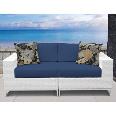 Miami 2 Piece Sofa Seating Group with Cushions Fabric: Navy