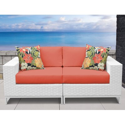 Miami 2 Piece Sofa Seating Group with Cushions Fabric: Tangerine