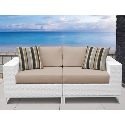 Miami 2 Piece Sofa Seating Group with Cushions Fabric: Wheat