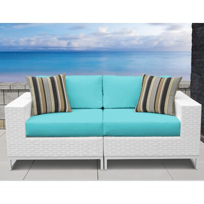 Miami 2 Piece Sofa Seating Group with Cushions Fabric: Aruba