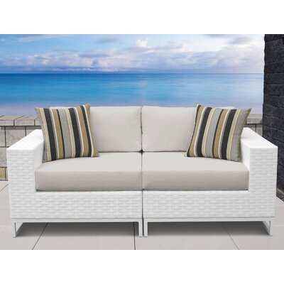 Miami 2 Piece Sofa Seating Group with Cushions Fabric: Beige