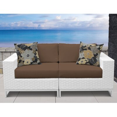 Miami 2 Piece Sofa Seating Group with Cushions Fabric: Cocoa