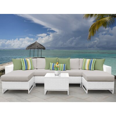 Miami 7 Piece Sectional Seating Group with Cushions Fabric: Beige