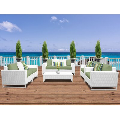 Miami 7 Piece Deep Seating Group with Cushions Fabric: Cilantro