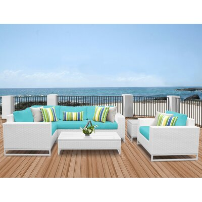 Miami 7 Piece Sectional Seating Group with Cushions Fabric: Aruba