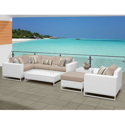 Miami 8 Piece Sectional Seating Group with Cushions Fabric: Wheat