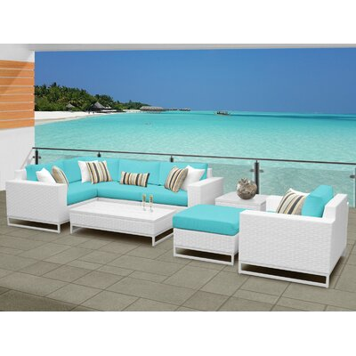 Miami 8 Piece Sectional Seating Group with Cushions Fabric: Aruba