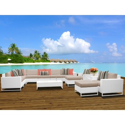 Miami 13 Piece Sectional Seating Group with Cushions Fabric: Wheat
