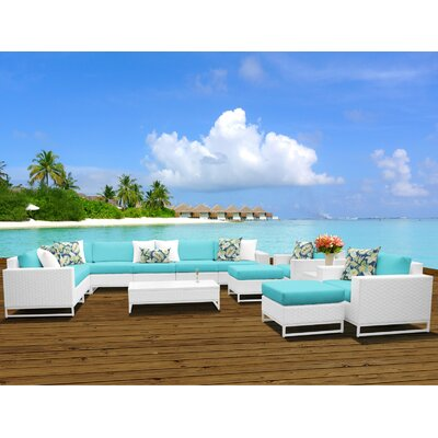 Miami 13 Piece Sectional Seating Group with Cushions Fabric: Aruba