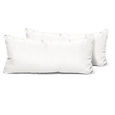 Outdoor Lumbar Pillow Color: Sail White