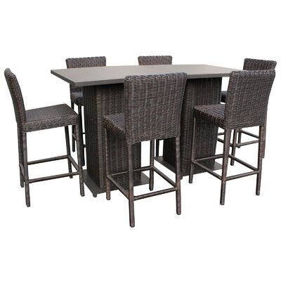 Cape Cod 8 Piece Pub Table Set Finish: Brown