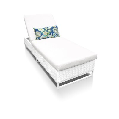 Miami Chaise Lounge with Cushion Fabric: Navy