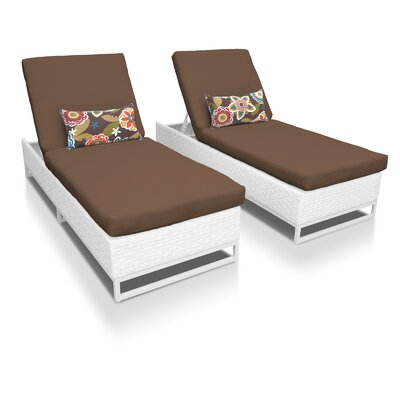 Miami Chaise Lounges with Cushions Fabric: Cocoa