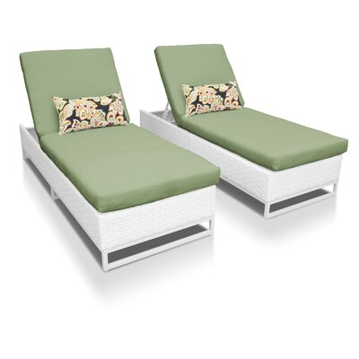 Miami Chaise Lounges with Cushions Fabric: Cilantro