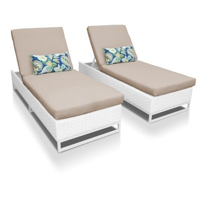 Miami Chaise Lounges with Cushions Fabric: Wheat