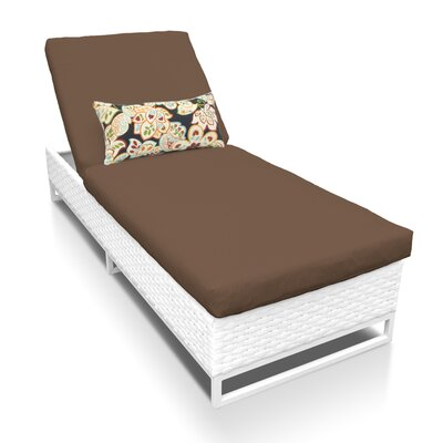 Miami Chaise Lounge with Cushion Fabric: Cocoa