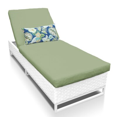 Miami Chaise Lounge with Cushion Fabric: Cilantro