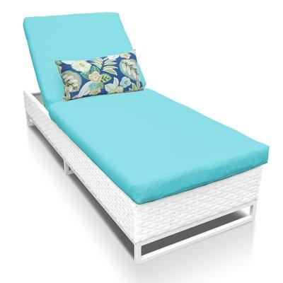 Miami Chaise Lounge with Cushion Fabric: Aruba