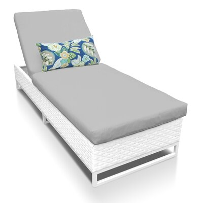 Miami Chaise Lounge with Cushion Fabric: Gray
