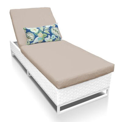Miami Chaise Lounge with Cushion Fabric: Wheat