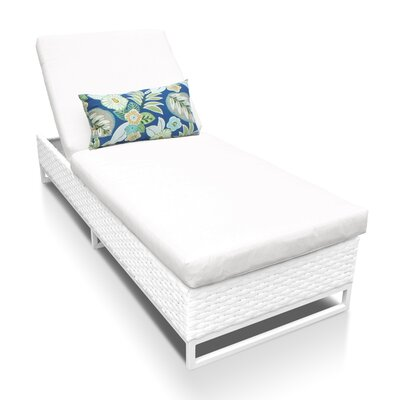 Miami Chaise Lounge with Cushion Fabric: White
