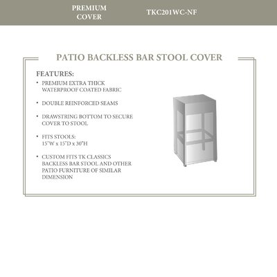 Protective Wicker Backless Barstool Chair Cover