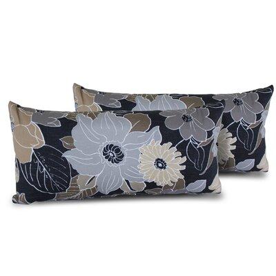 Floral Rectangle Outdoor Lumbar Pillow