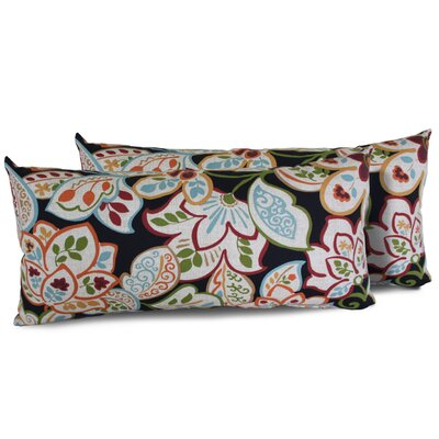 Villa Floral Rectangle Outdoor Lumbar Pillow