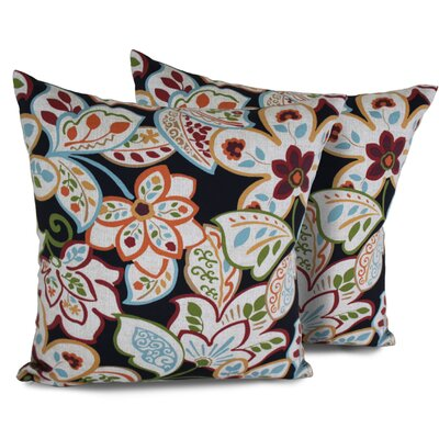 Villa Floral Square Outdoor Throw Pillow