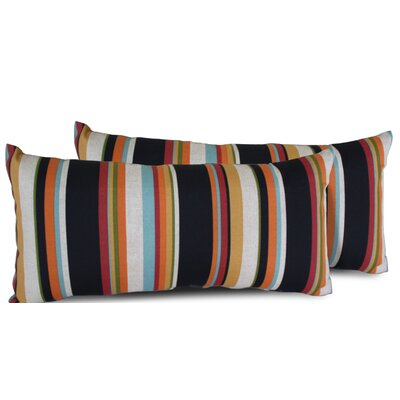 Villa Stripe Rectangle Outdoor Lumbar Pillow