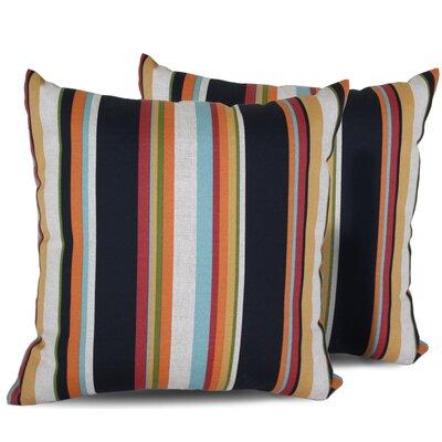 Villa Stripe Square Outdoor Throw Pillow