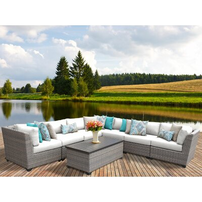 Florence Rattan Sectional Set Cushions