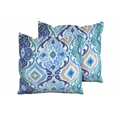 Cobalt Outdoor Throw Pillow