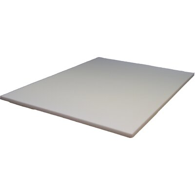 1.5 Memory Foam Mattress Topper Size: Twin