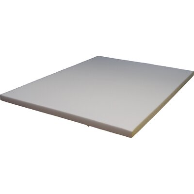 Medium Firmness Soy Based 2.5 Memory Foam Mattress Topper Size: Full
