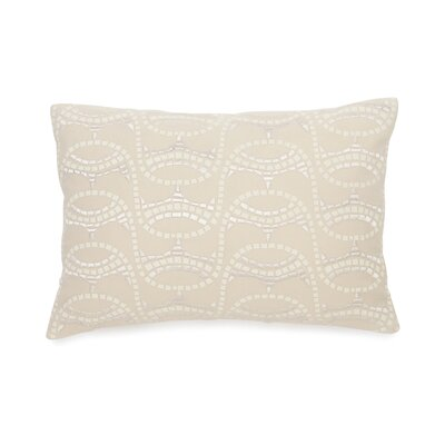Terracotta Embroidered Mosaic Decorative Cotton Throw Pillow