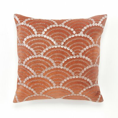 Terracotta Fishscale Decorative Cotton Throw Pillow