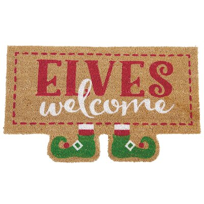 Sleigh Mates Elves Welcome Holiday Doormat